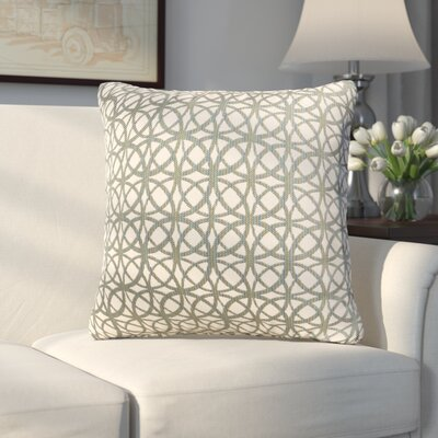 Arana Throw Pillow Size: 16 H x 16 W x 6 D, Color: Baltic