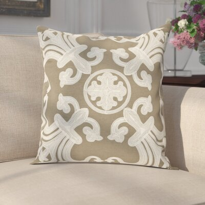 Goodrum 100% Cotton Throw Pillow Size: 22 H x 22 W x 2.5 D, Color: Olive