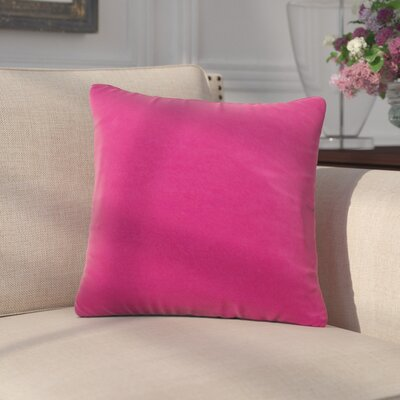 Arterbury Square Pillow Size: 20, Color: Bright Rose