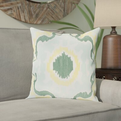 Ayaan 100% Cotton Pillow Cover Size: 18 H x 18 W, Color: Mint/Emerald/Butter