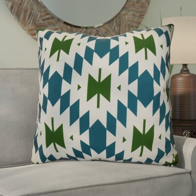 Soluri Geometric Euro Pillow Color: Teal