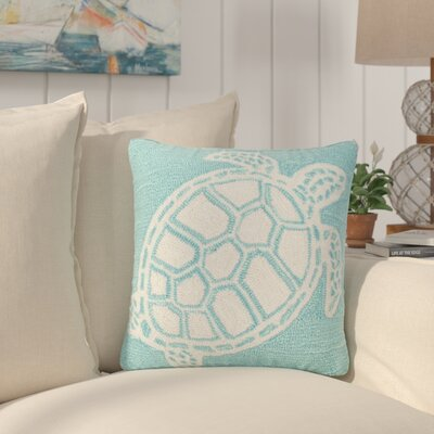 Redwood Turtle Indoor/Outdoor Throw Pillow Color: Blue