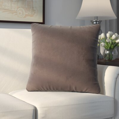 Abshire Throw Pillow Size: 16 H x 16 W x 8 D, Color: Bella Chocolate
