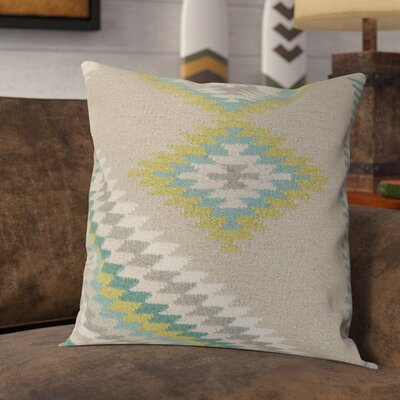 Westall 100% Wool Throw Pillow Cover Size: 18 H x 18 W x 0.25 D, Color: NeutralGreen