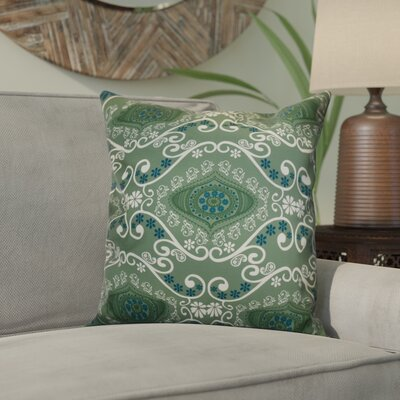 Soluri Illuminate Geometric Outdoor Throw Pillow Size: 18 H x 18 W x 2 D, Color: Green