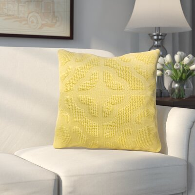 Oak Lane Mosaic Throw Pillow Color: Sunshine