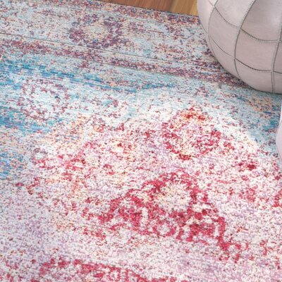 Remington Cherry Pink Area Rug Rug Size: 53 x 77