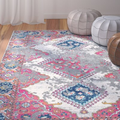 Kristopher Red Area Rug Rug Size: 4 x 6
