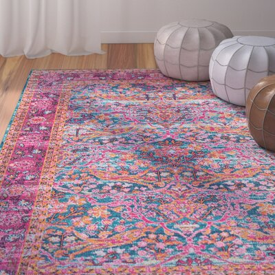 Knox Pink Area Rug Rug Size: 8 x 10