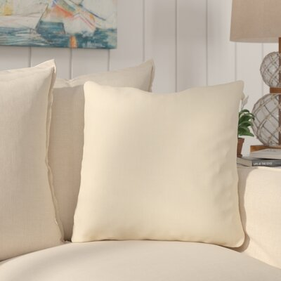 Maddison Linen Throw Pillow Color: Butter
