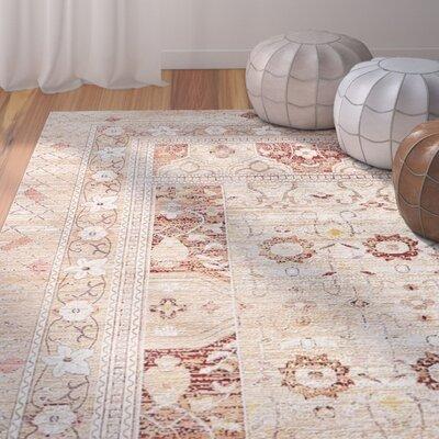 Center Beige Area Rug Rug Size: 4 x 6