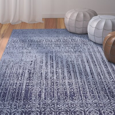 Dungan Blue Area Rug Rug Size: Rectangle 33 x 53