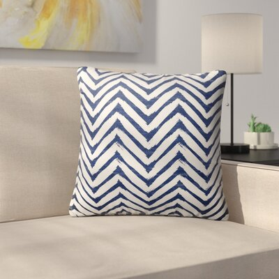 Ranney Throw Pillow Size: 26 H x 26 W x 6 D, Color: Blue/ White