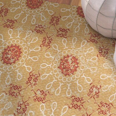 Soluri Gold / Orange Indoor/Outdoor Area Rug Rug Size: Rectangle 2 x 3