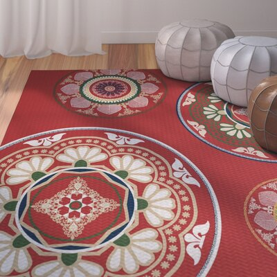 Soluri Red Indoor/Outdoor Area Rug Rug Size: 2 x 3