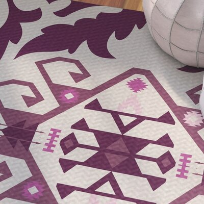 Soluri Purple Indoor/Outdoor Area Rug Rug Size: Rectangle 3 x 5