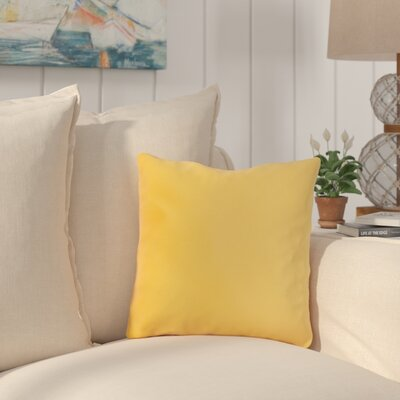 Mayson Outdoor Throw Pillow Color: Sunflower