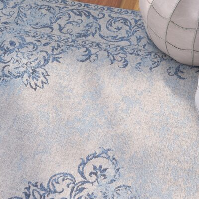 Payne Hand-Woven Sky Blue/Beige Area Rug Rug Size: Rectangle 8 x 10