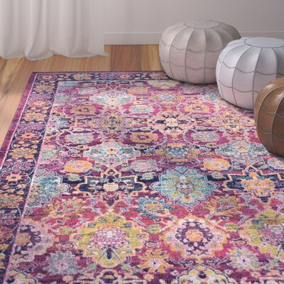 Burdine Fuchsia Area Rug Rug Size: Rectangle 4 x 6