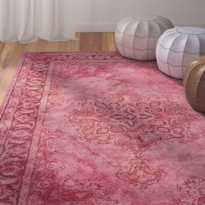 Differdange Burgundy Area Rug Rug Size: Rectangle 2 x 3