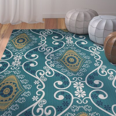 Soluri Blue Indoor/Outdoor Area Rug Rug Size: Rectangle 3 x 5