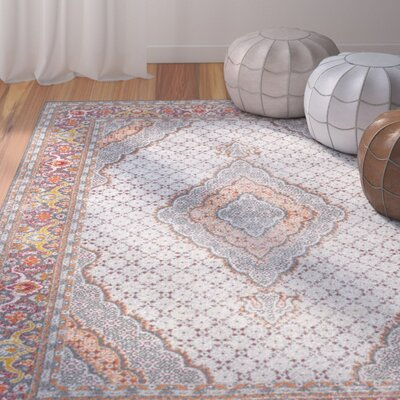 Cendrillon Orange Area Rug Rug Size: Rectangle 4 x 6