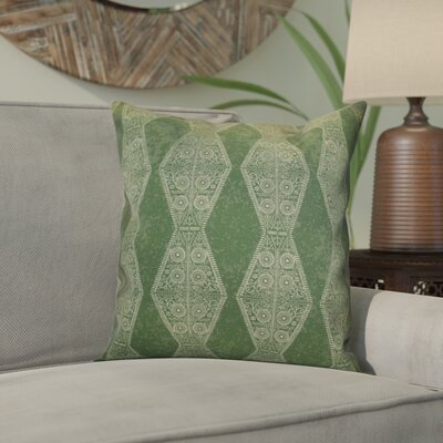 Soluri Pyramid Striped Geometric Throw Pillow Size: 16 H x 16 W x 2 D, Color: Green