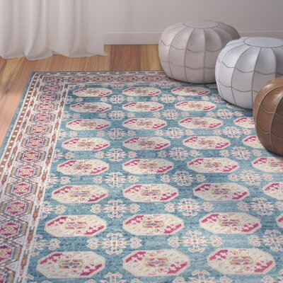 Arlingham Teal Area Rug Rug Size: 76 x 96