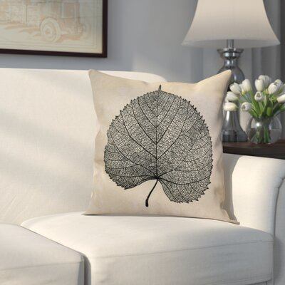 Miller Leaf Study Floral Throw Pillow Size: 20 H x 20 W x 2 D, Color: Black