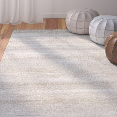 Burcet Brown/Cream Area Rug Rug Size: Rectangle 53 x 76