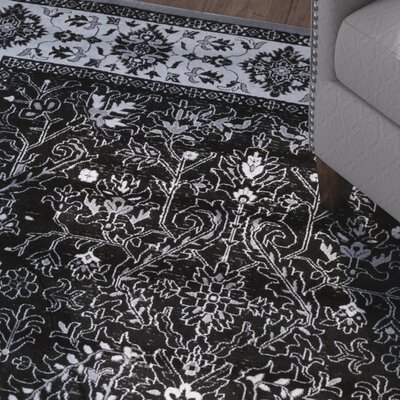 Bomberger Black/Light Gray Area Rug Rug Size: Rectangle 8 x 10