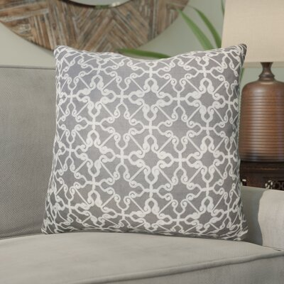 Domenique Embroidered Chain Stitch Throw Pillow Color: Gray