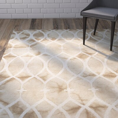 Snowden Hand-Woven Beige Area Rug Rug Size: Rectangle 8 x 10