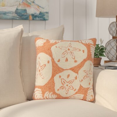 Phillip Shell Toss Throw Pillow Color: Orange