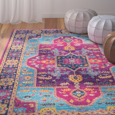 Celestiel Fuchsia Area Rug Rug Size: Rectangle 5' x 7'5