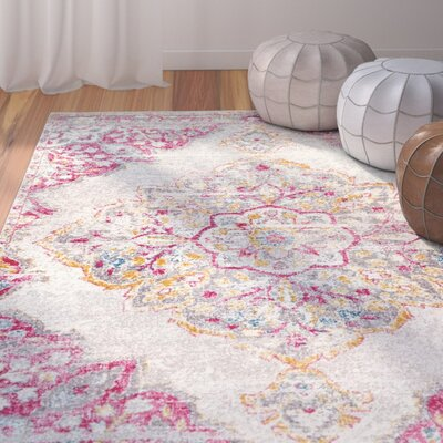 Cateline Pink Area Rug Rug Size: Rectangle 5 x 75