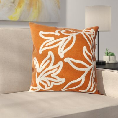 Moana Indoor/Outdoor Throw Pillow Size: 20 x 20, Color: Orange