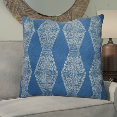 Soluri Pyramid Striped Geometric Euro Pillow Color: Blue