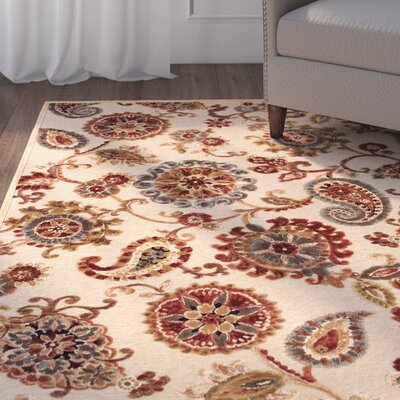 Daugherty Antique Cream Marlow Rug Rug Size: 53 x 76