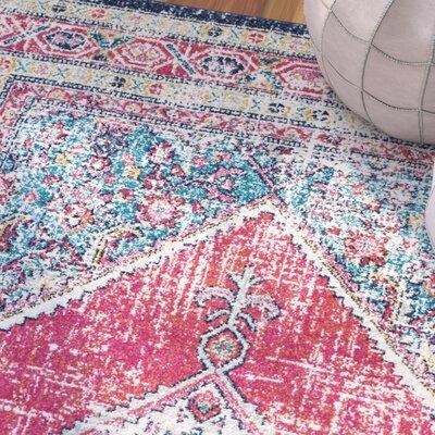 Celesse Pink/Blue Area Rug Rug Size: 8 x 10