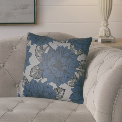 Lyda Square Throw Pillow Size: 20 H x 20 W x 4 D, Color: Blue