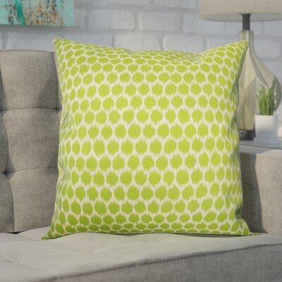 Gracie Splotch Outdoor Throw Pillow Color: Green