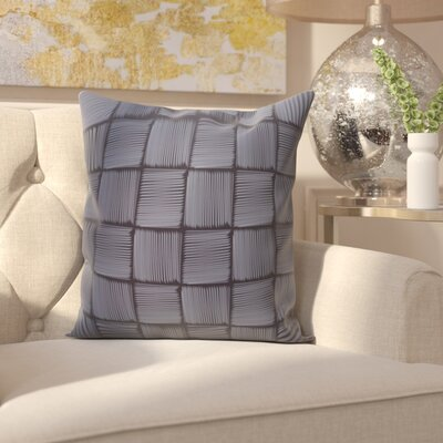 Parsons Basketweave Geometric Print  OutdoorThrow Pillow Size: 20 H x 20 W, Color: Blue