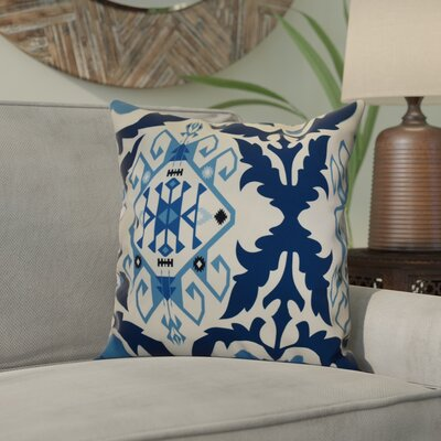 Soluri 6 Geometric Throw Pillow Size: 20 H x 20 W x 2 D, Color: Navy Blue