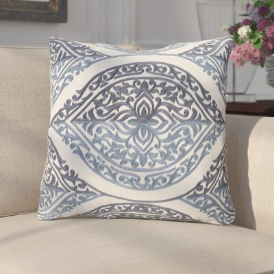 Parish Cotton Throw Pillow Color: Blue