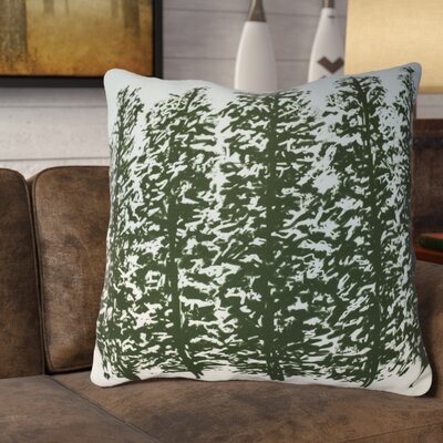 Meigs Hidden Forrest Euro Pillow Color: Green