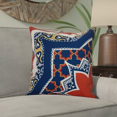 Soluri Rising Star Geometric Outdoor Throw Pillow Size: 20