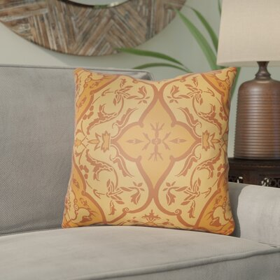 Libchava Floral Throw Pillow Size: 18 H x 18 W x 4 D, Color: Orange