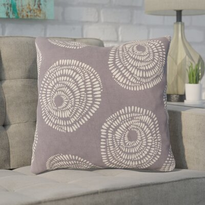 Maryanne 100% Cotton Throw Pillow Size: 22 H x 22 W x 4 D, Color: Charcoal