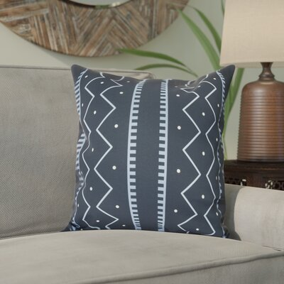 Arlo Polyester Throw Pillow Size: 18 H x 18 W, Color: Navy Blue